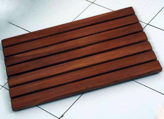 Tapetes madera para salida de ba o tarimas ducha teca ipe for Tarimas de madera para duchas