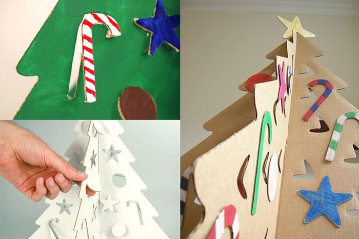ilustracion del articulo como hacer un pino de navidad de carton