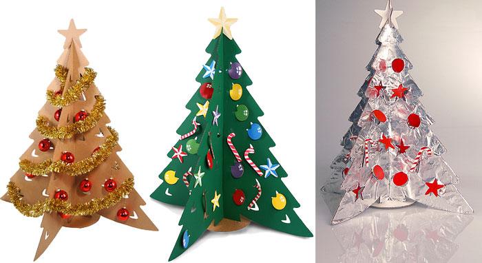 C mo hacer un pino de navidad de cart n for Como hacer un arbol de navidad original
